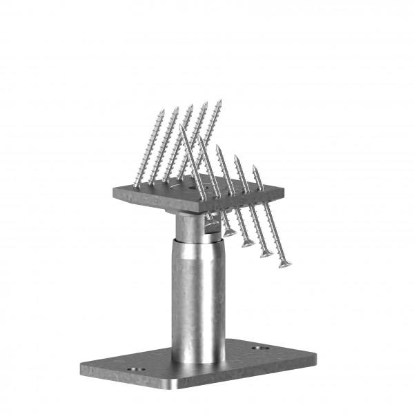 STF-Pfostenträger 140+50 -- 50 mm höhenverstellbar