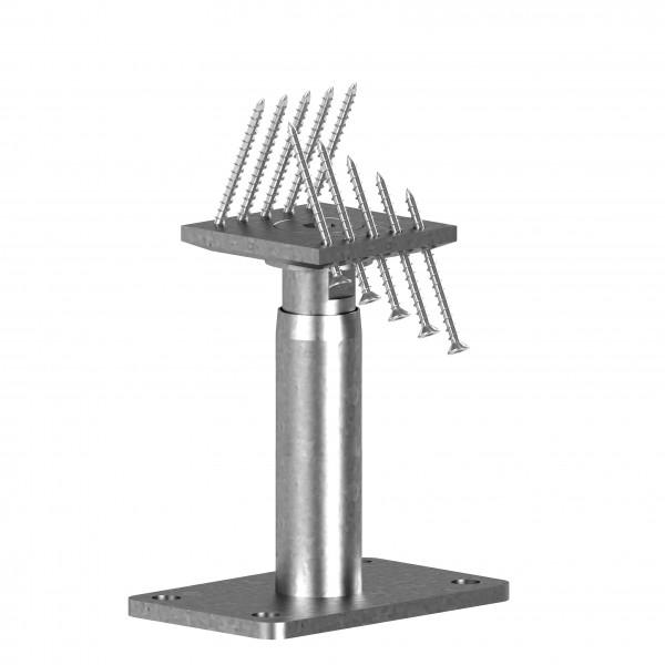 STF-Pfostenträger 190+100 -- 100 mm höhenverstellbar