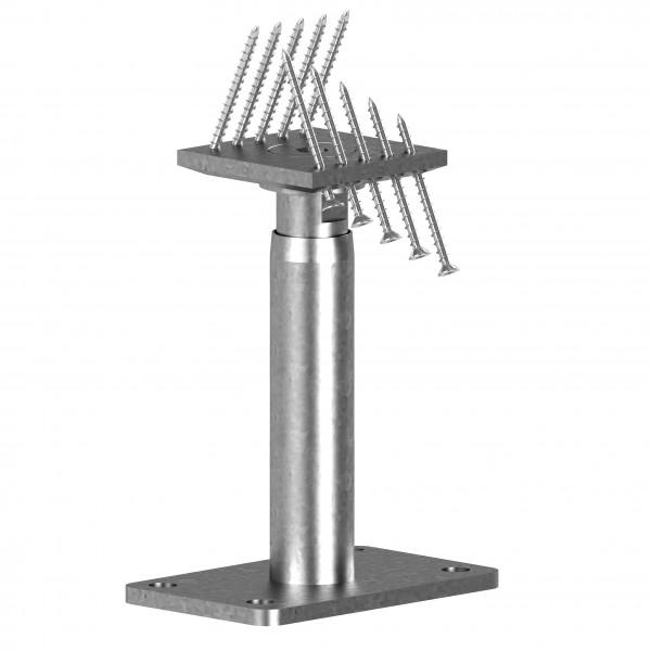 STF-Pfostenträger 300+150 -- 150 mm höhenverstellbar